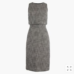 J crew going places tweed career dress tiered
